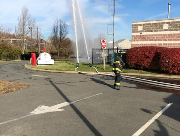 Members Took Advantage Of Unseasonably Warm Weather Saturday – Drill With Tanker